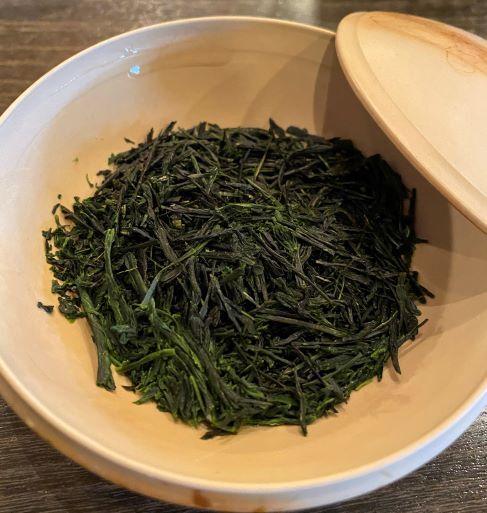 冷茶(煎茶上)1煎目茶葉