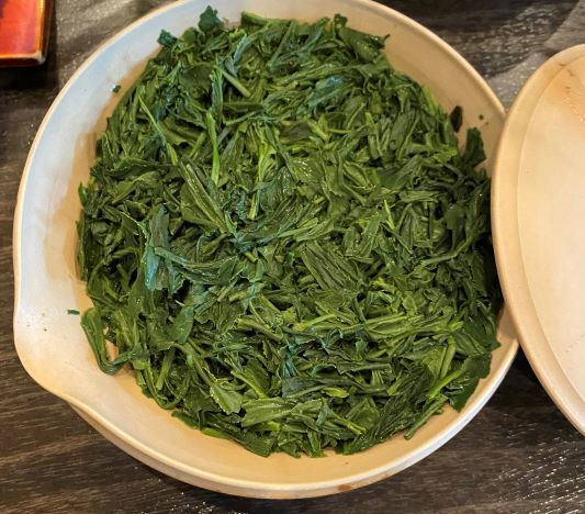 冷茶(煎茶上)3煎目茶葉